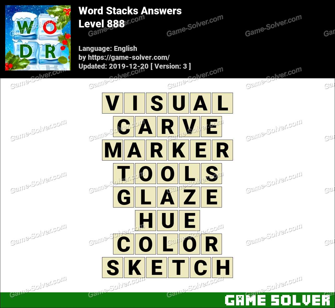 Word Stacks Level 888 Answers