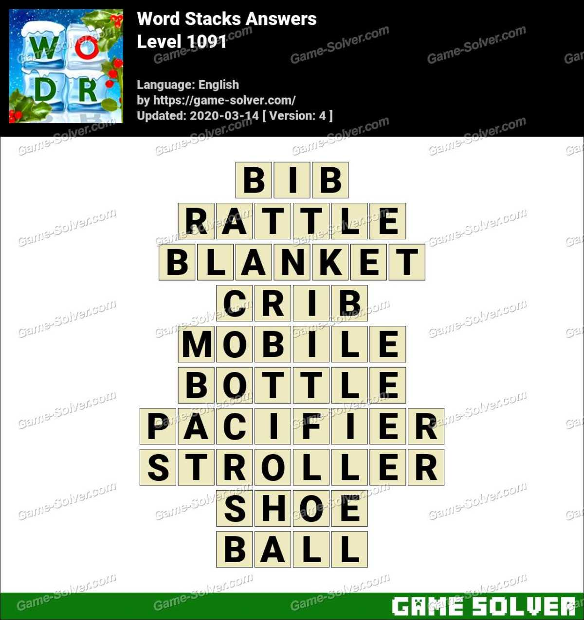 Word Stacks Level 1091 Answers