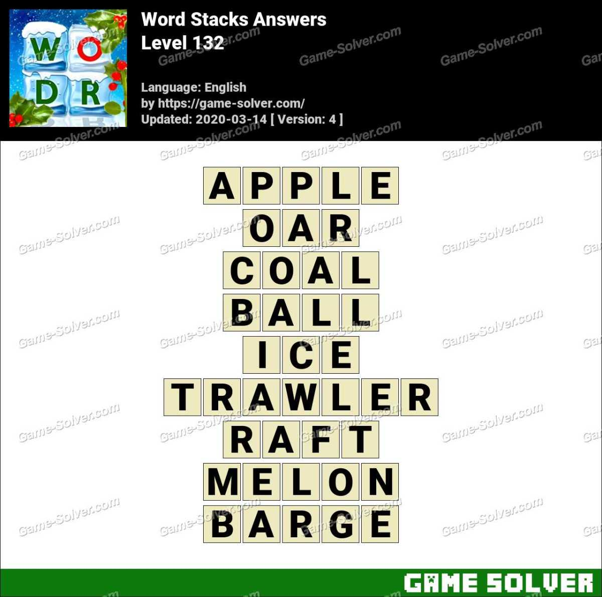 Word Stacks Level 132 Answers
