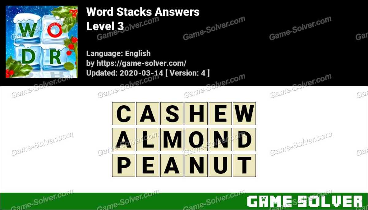 Word Stacks Level 3 Answers