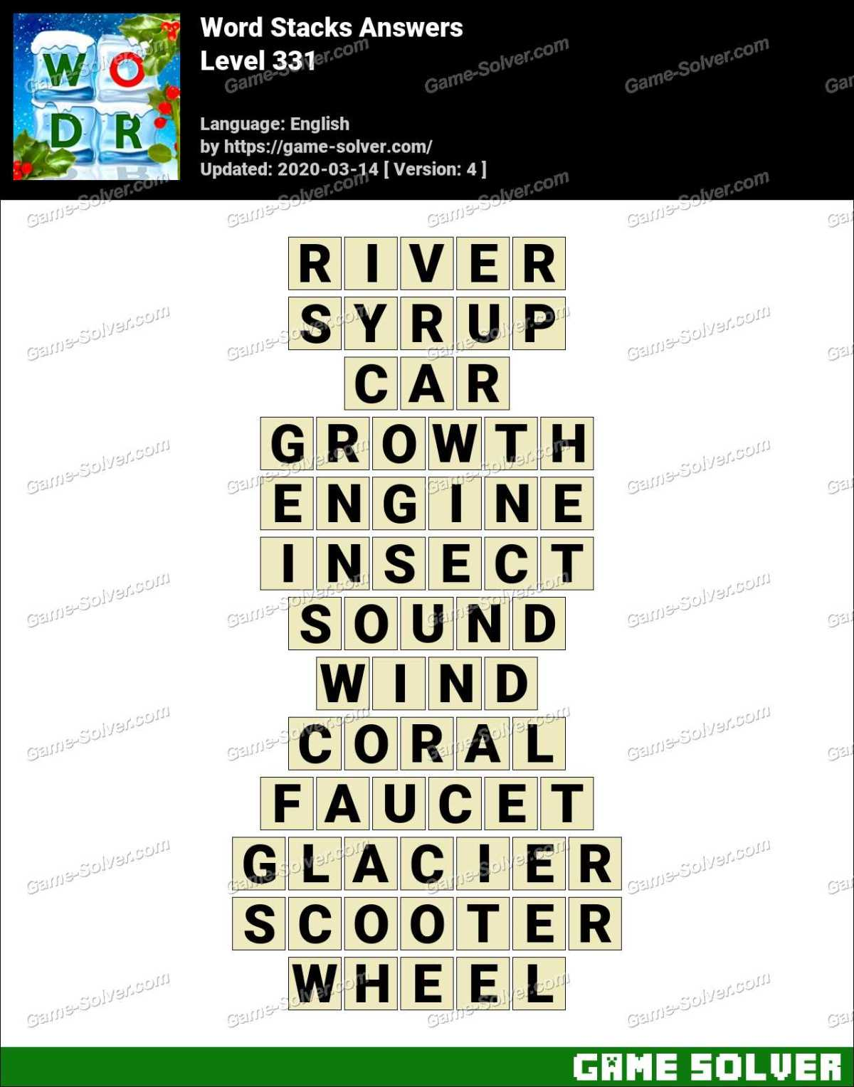 Word Stacks Level 331 Answers