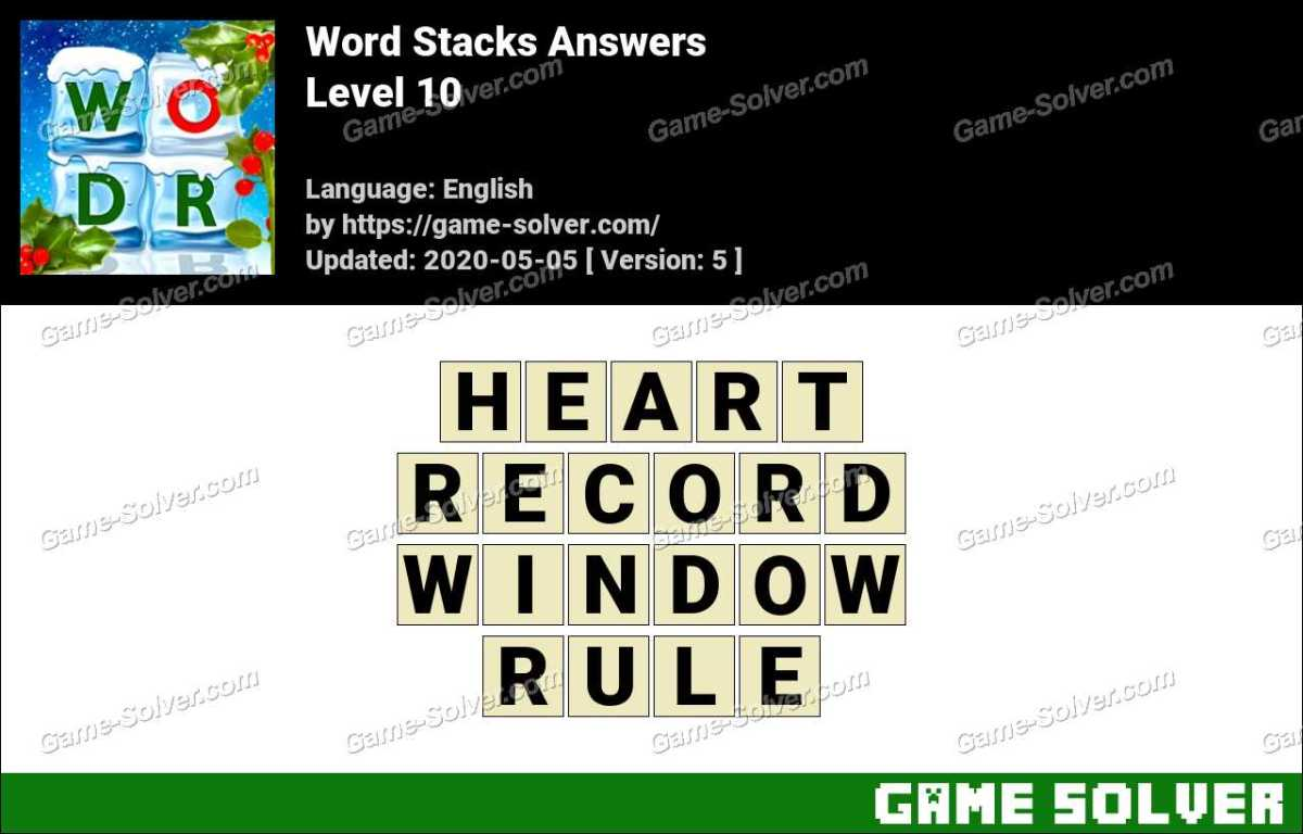 Word Stacks Level 10 Answers