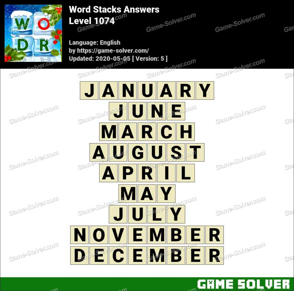 Word Stacks Level 1074 Answers
