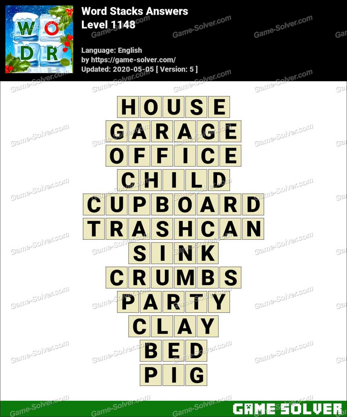 Word Stacks Level 1148 Answers