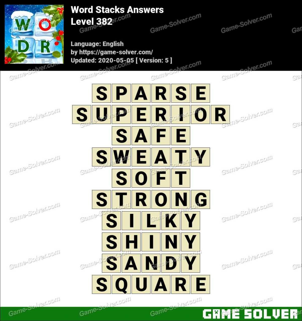 Word Stacks Level 382 Answers