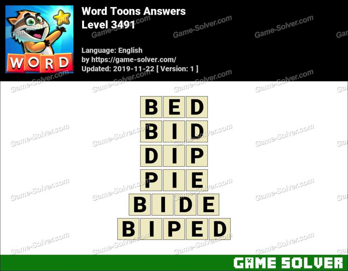 Word Toons Level 3491 Answers