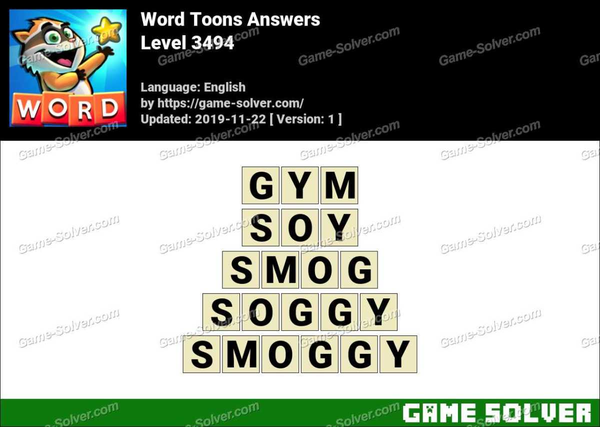 Word Toons Level 3494 Answers