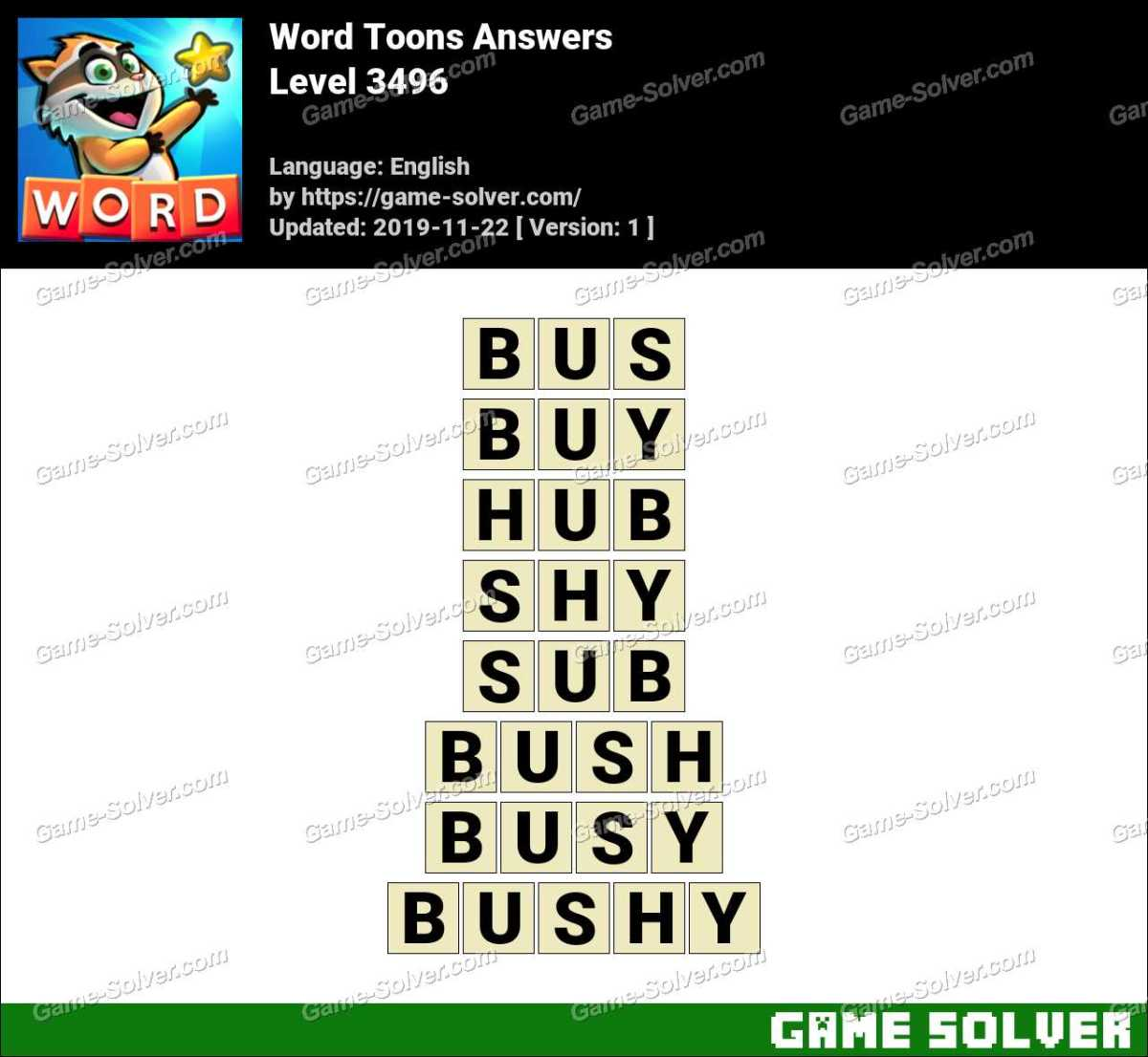 Word Toons Level 3496 Answers