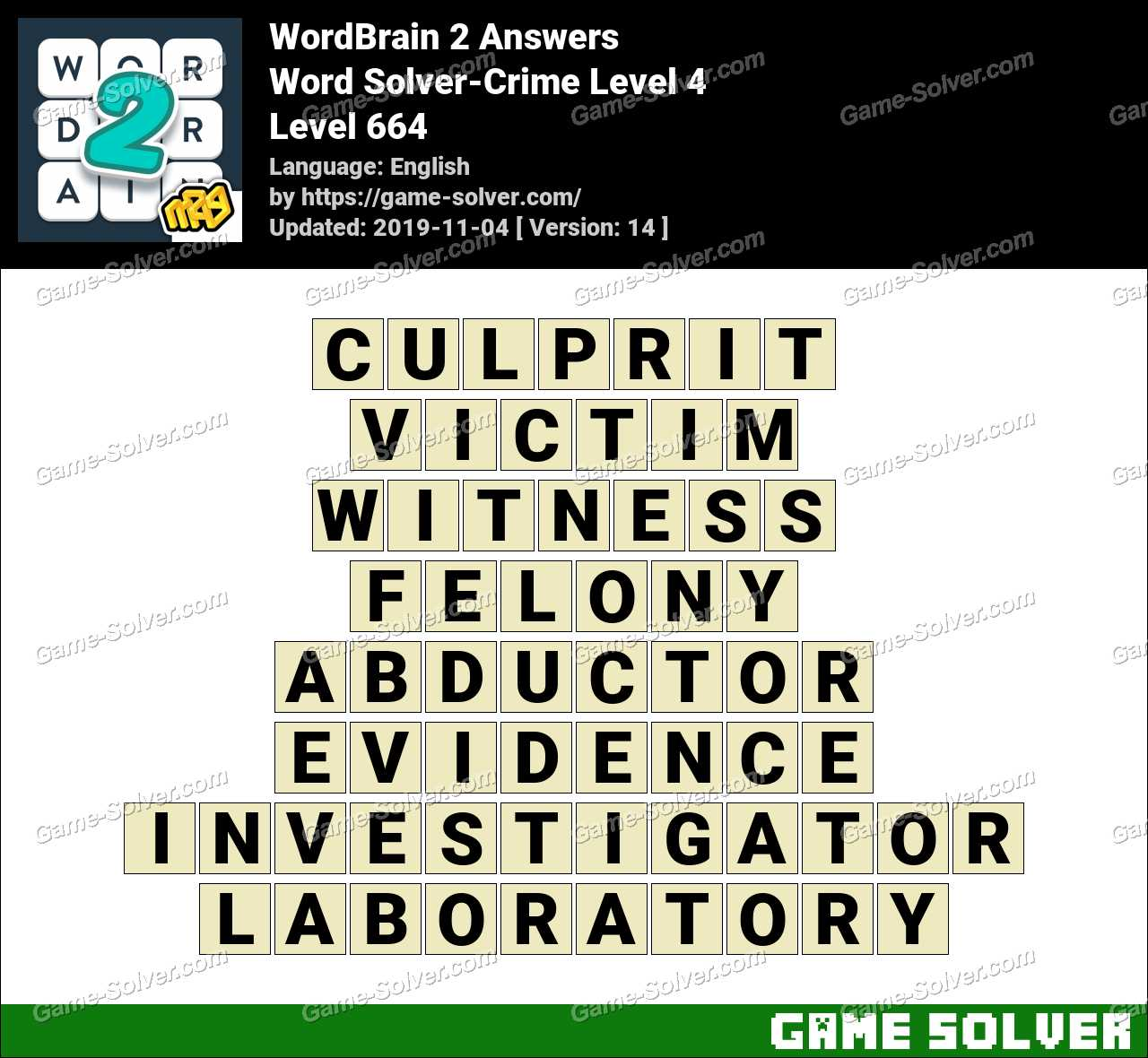 Word Solver Crime Level 4 Answers