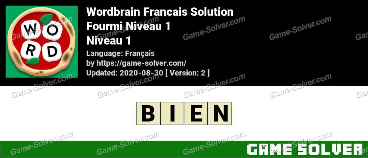 WordBrain Français Fourmi Niveau 1