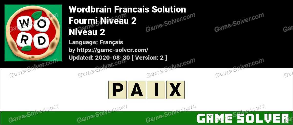 WordBrain Français Fourmi Niveau 2