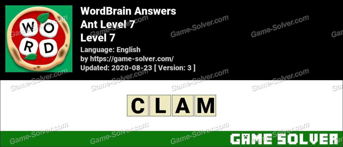 WordBrain Ant Level 7 Answers