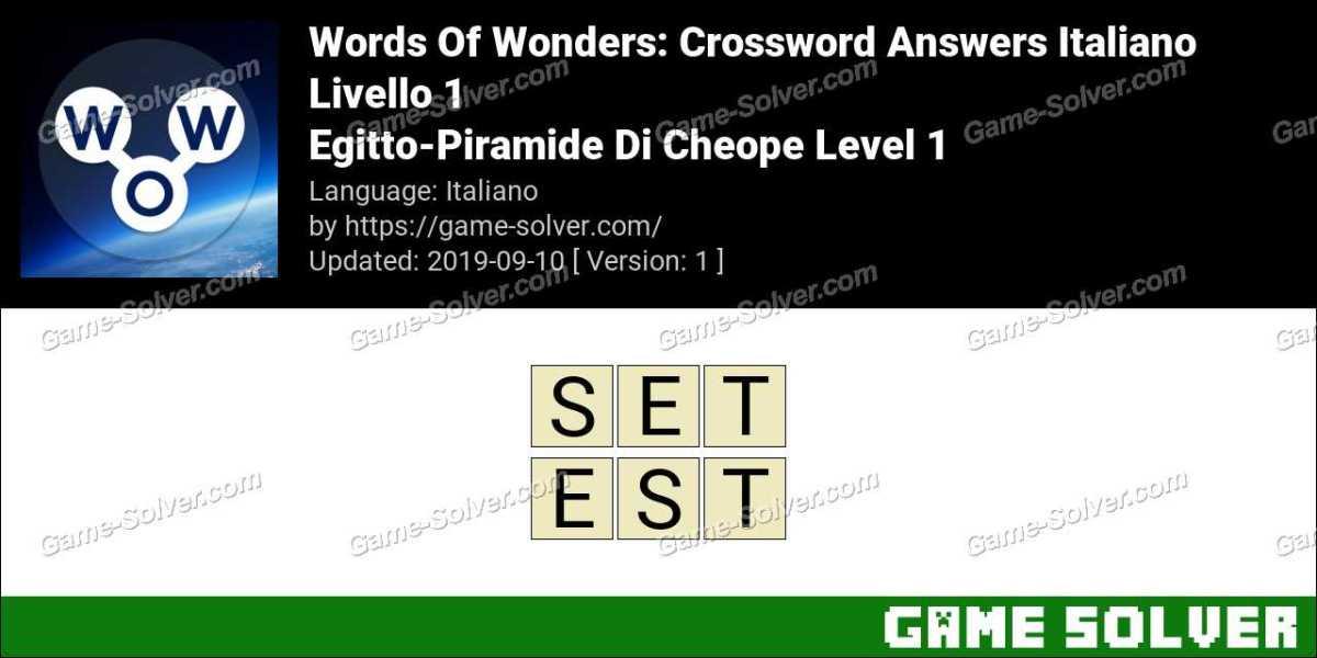 Words Of Wonders Egitto-Piramide Di Cheope Level 1 Answers