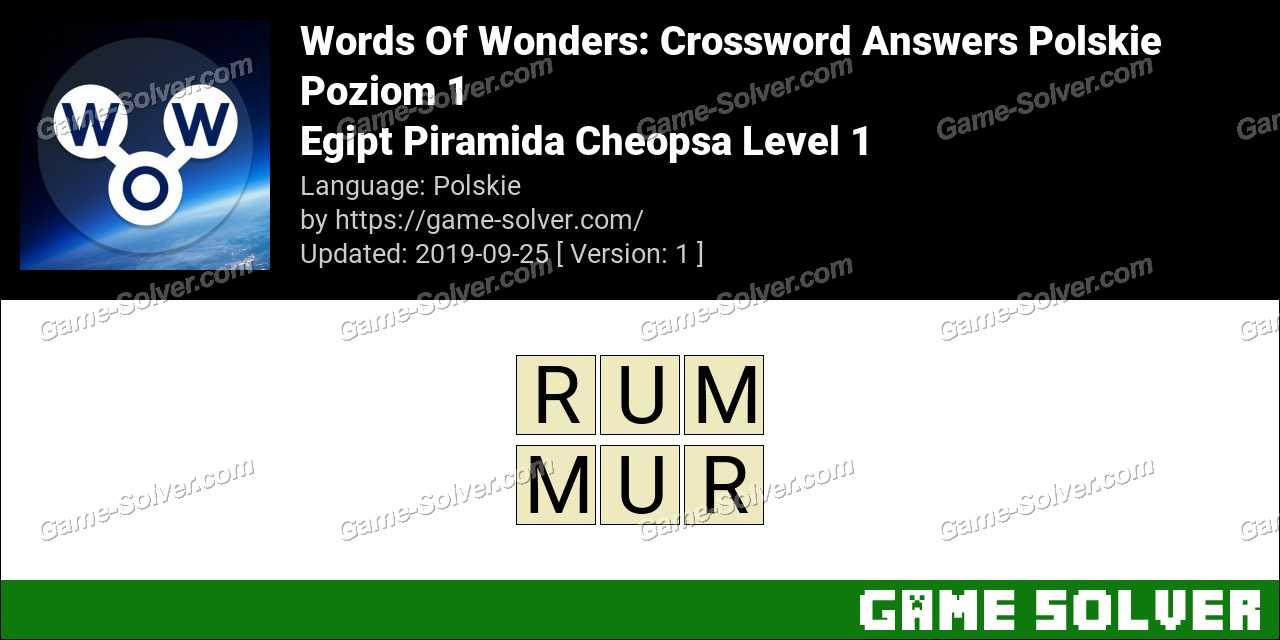 Words Of Wonders Egipt Piramida Cheopsa Level 1 Answers