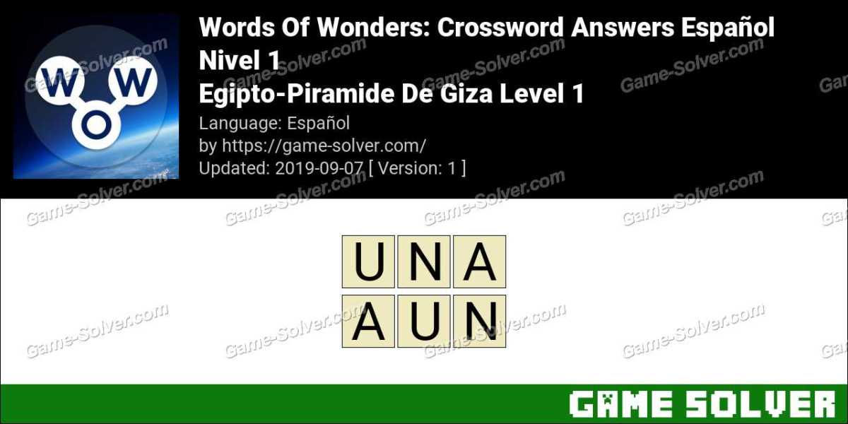 Words Of Wonders Egipto-Piramide De Giza Level 1 Answers