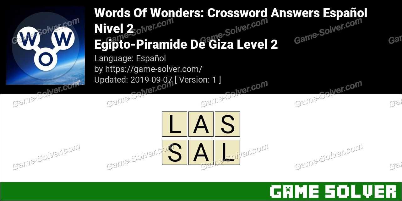 Words Of Wonders Egipto-Piramide De Giza Level 2 Answers