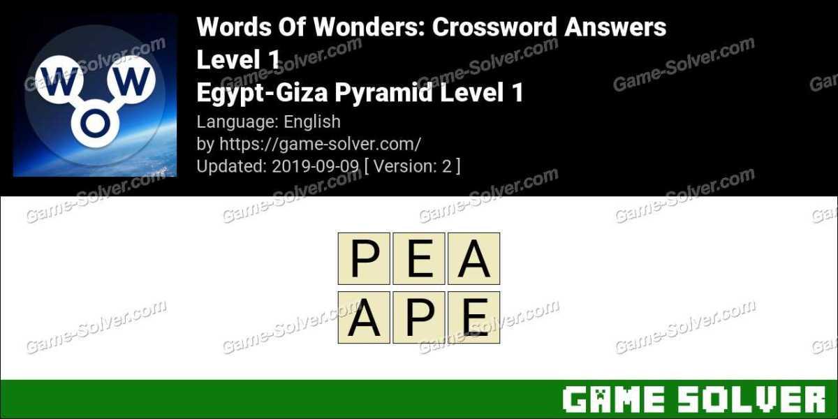 Words Of Wonders Egypt-Giza Pyramid Level 1 Answers