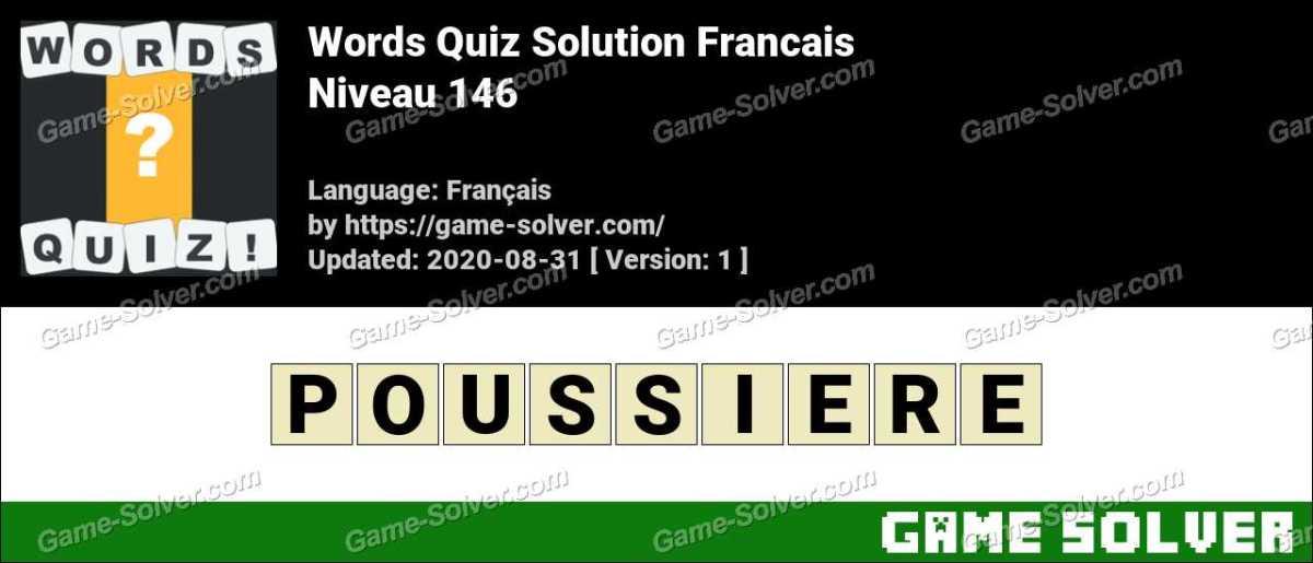 Words Quiz Francais Niveau 146