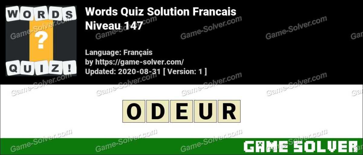 Words Quiz Francais Niveau 147
