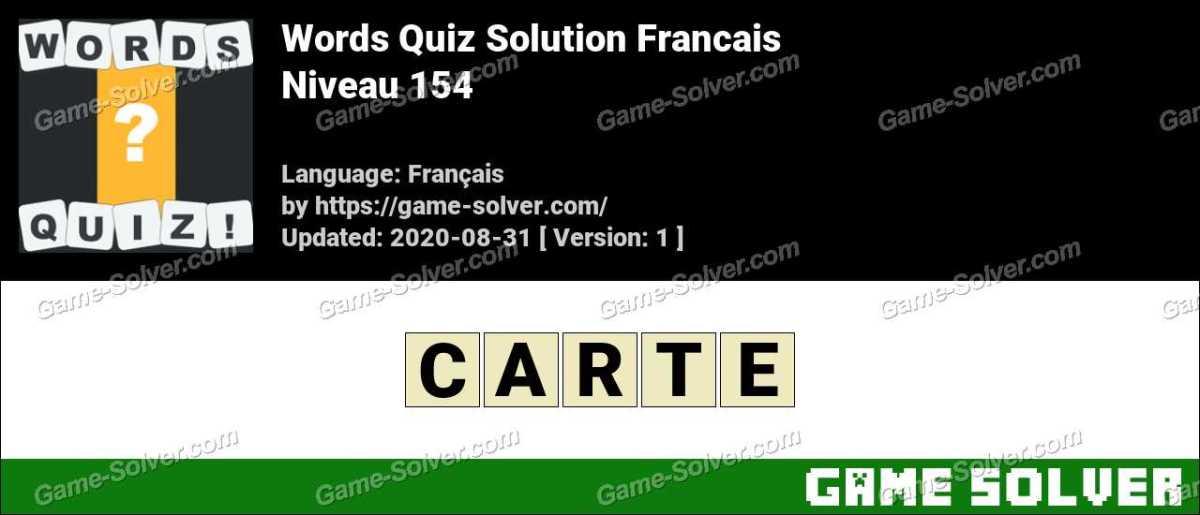 Words Quiz Francais Niveau 154