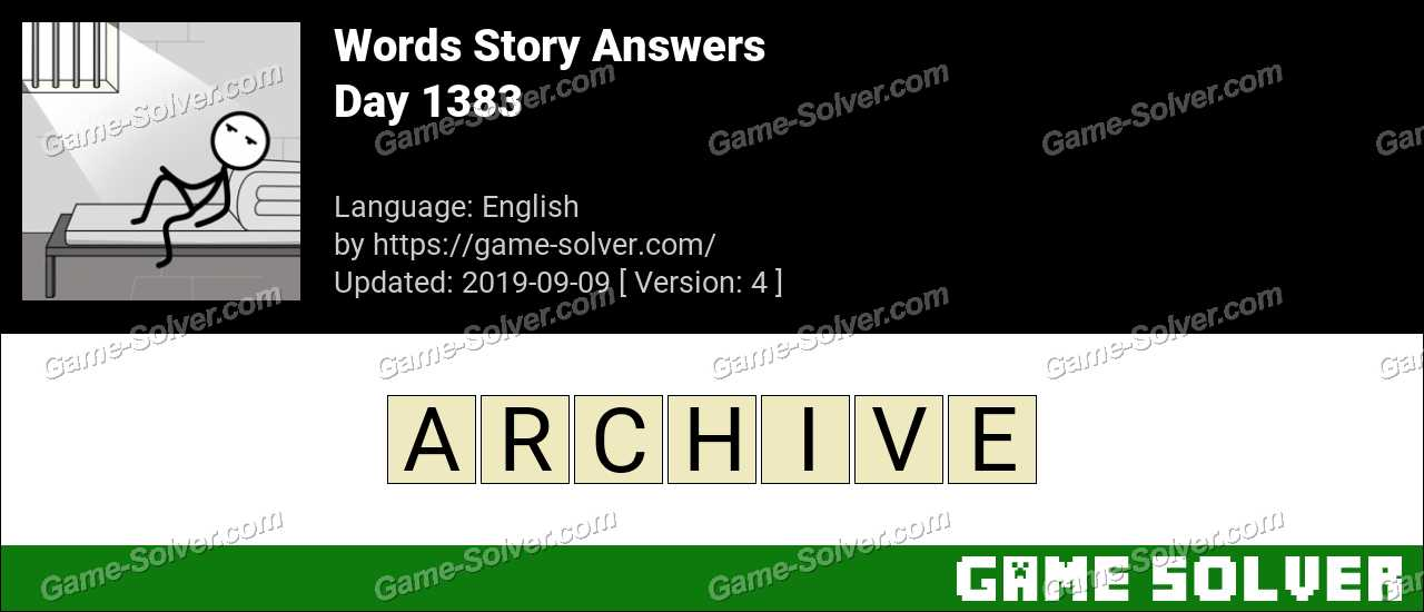 Words Story Day 1383 Answers