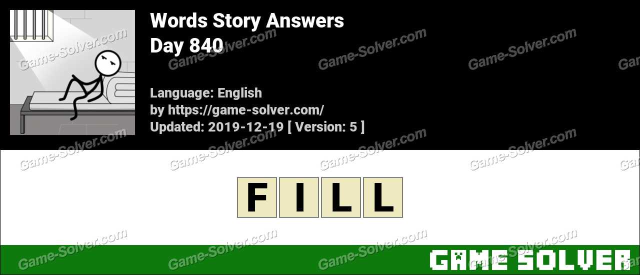 Words Story Day 840 Answers