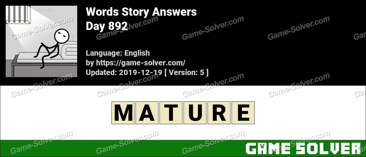 Words Story Day 892 Answers