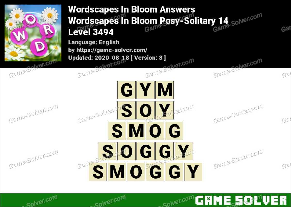 Wordscapes In Bloom Posy-Solitary 14 Answers