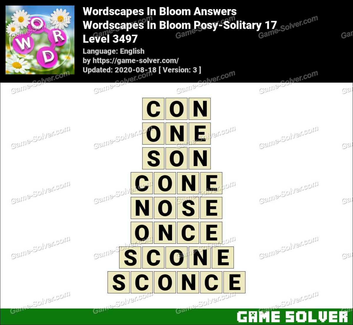 Wordscapes In Bloom Posy-Solitary 17 Answers