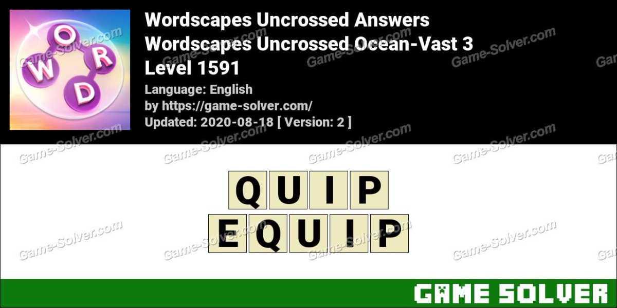 Wordscapes Uncrossed Ocean-Vast 3 Answers