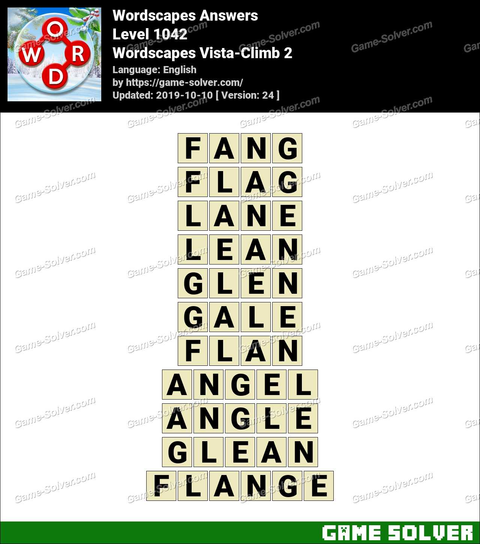 Wordscapes Vista-Climb 2 Answers