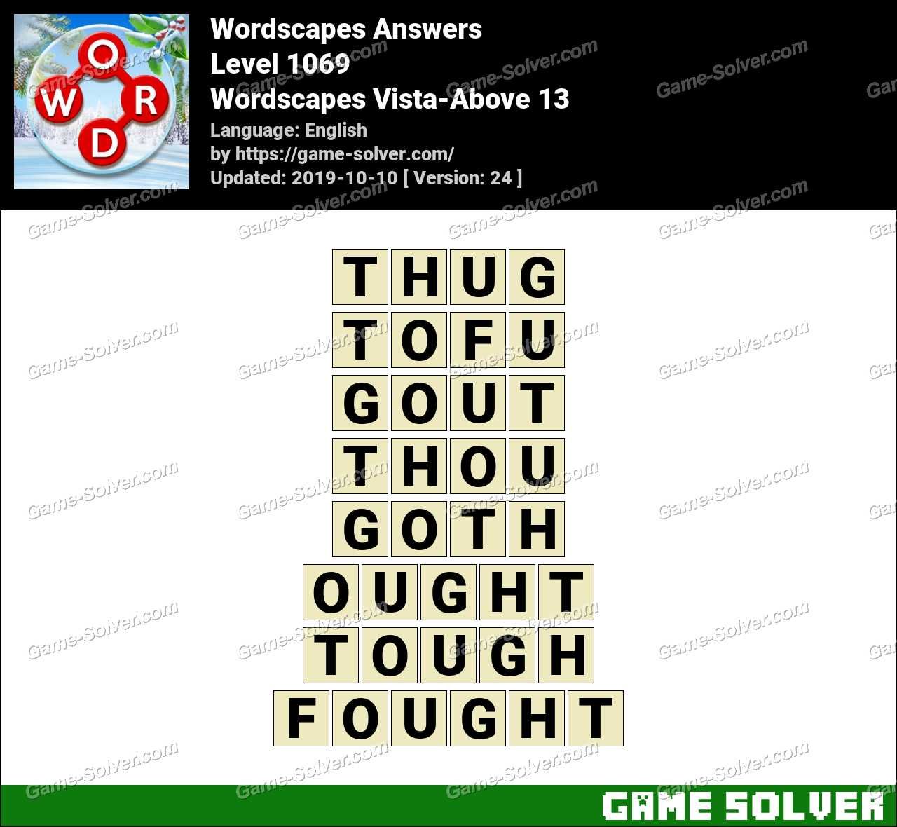 Wordscapes Vista-Above 13 Answers