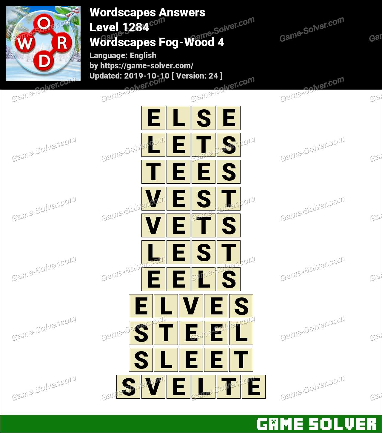 Wordscapes Fog-Wood 4 Answers