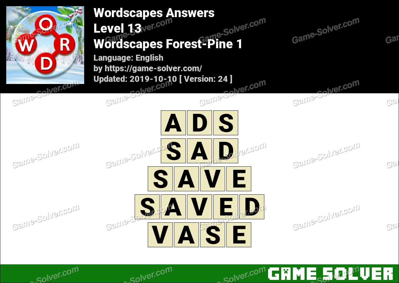 Wordscapes Forest-Pine 1 Answers