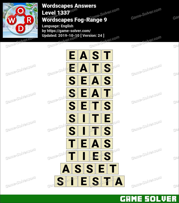 Wordscapes Fog-Range 9 Answers