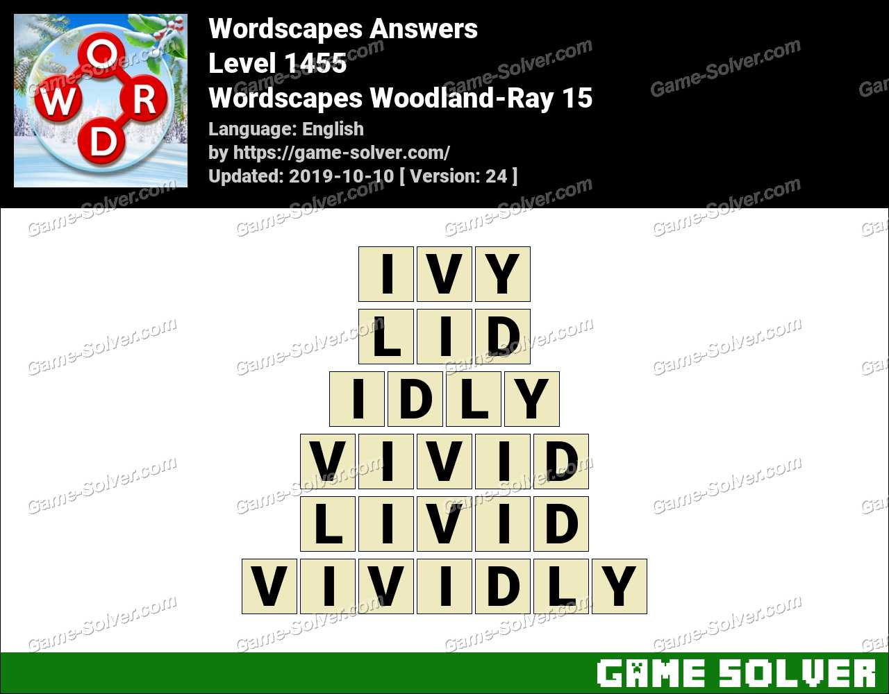 Wordscapes Woodland-Ray 15 Answers