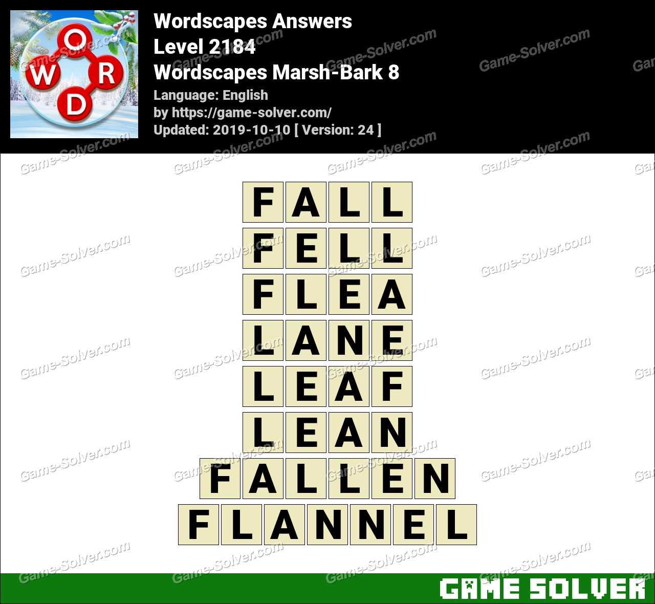Wordscapes Marsh-Bark 8 Answers