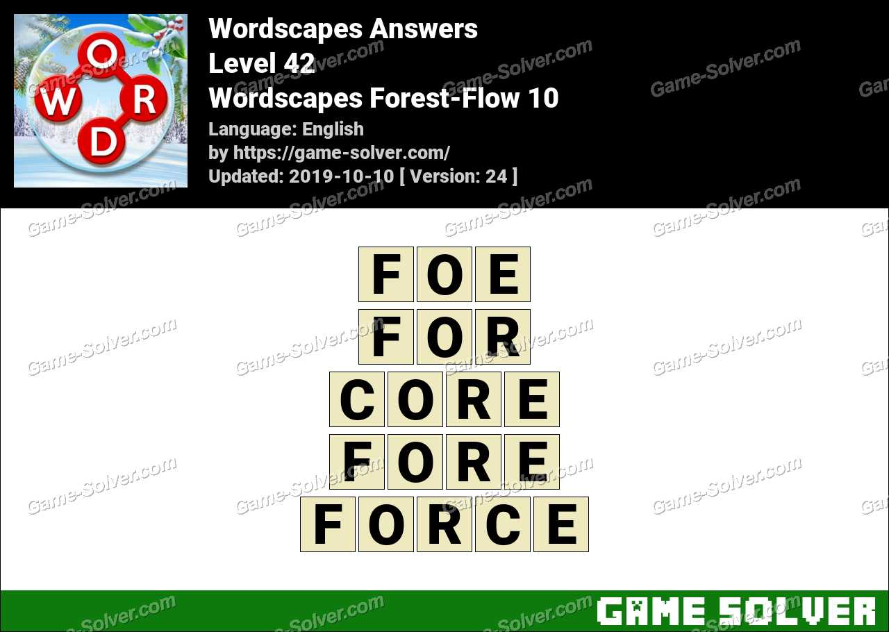 Wordscapes Forest-Flow 10 Answers