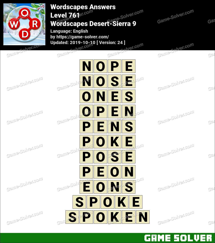 Wordscapes Desert-Sierra 9 Answers