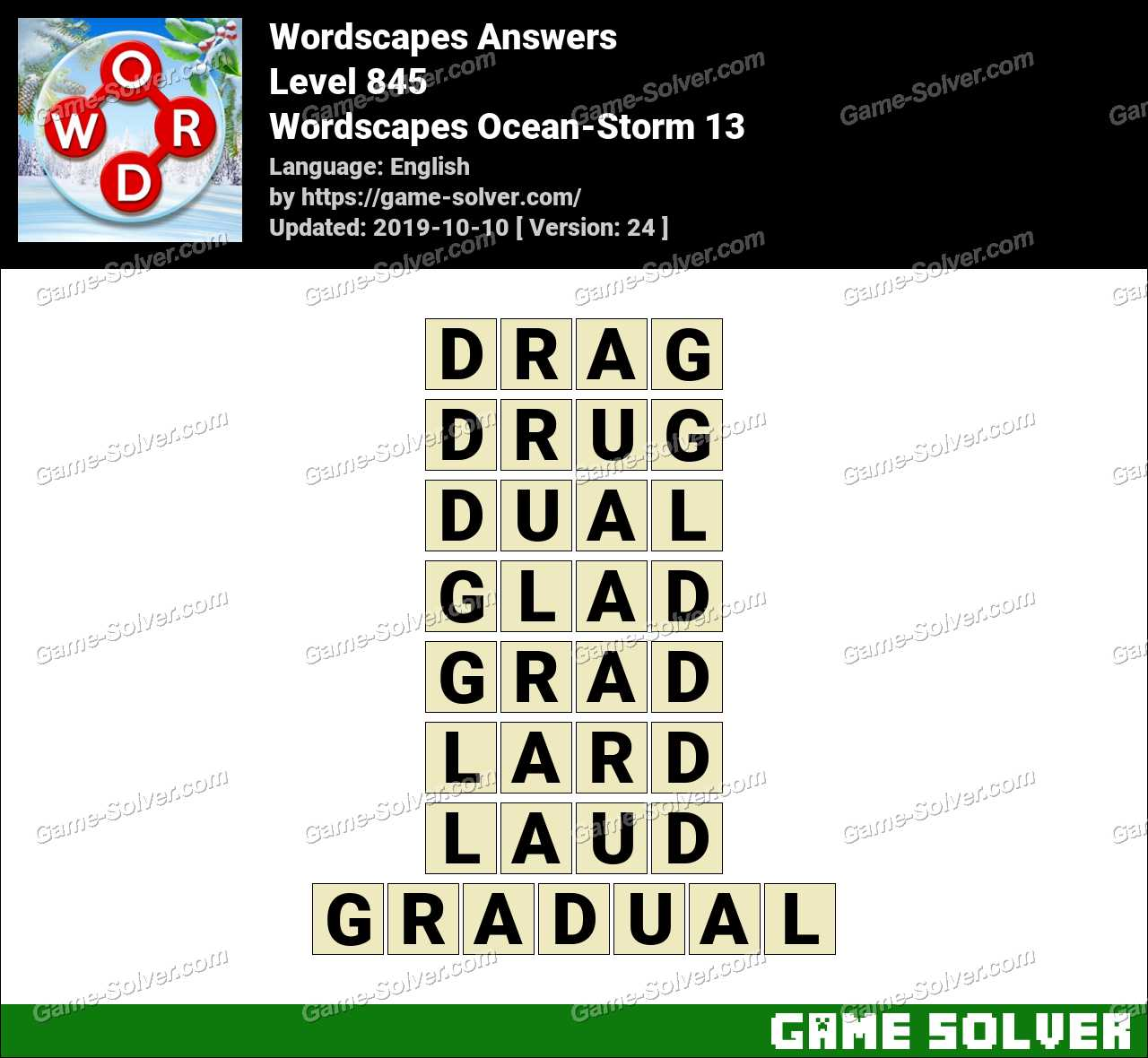 Wordscapes Ocean-Storm 13 Answers