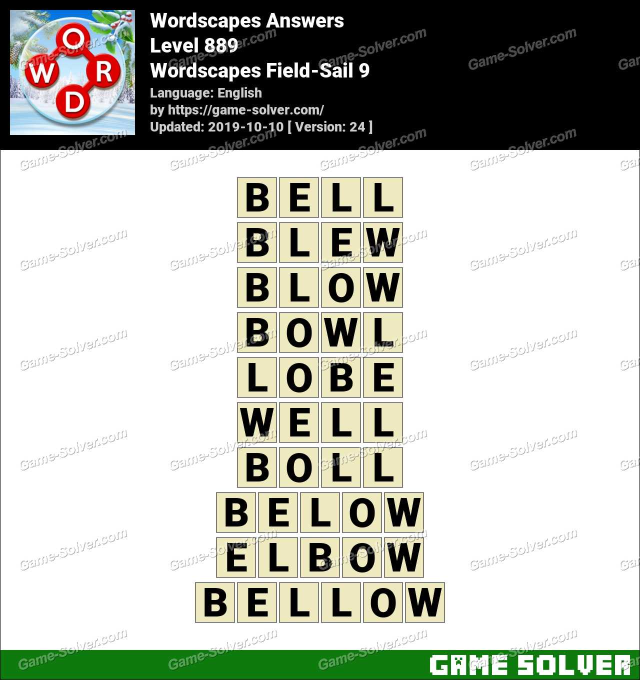 Wordscapes Field-Sail 9 Answers