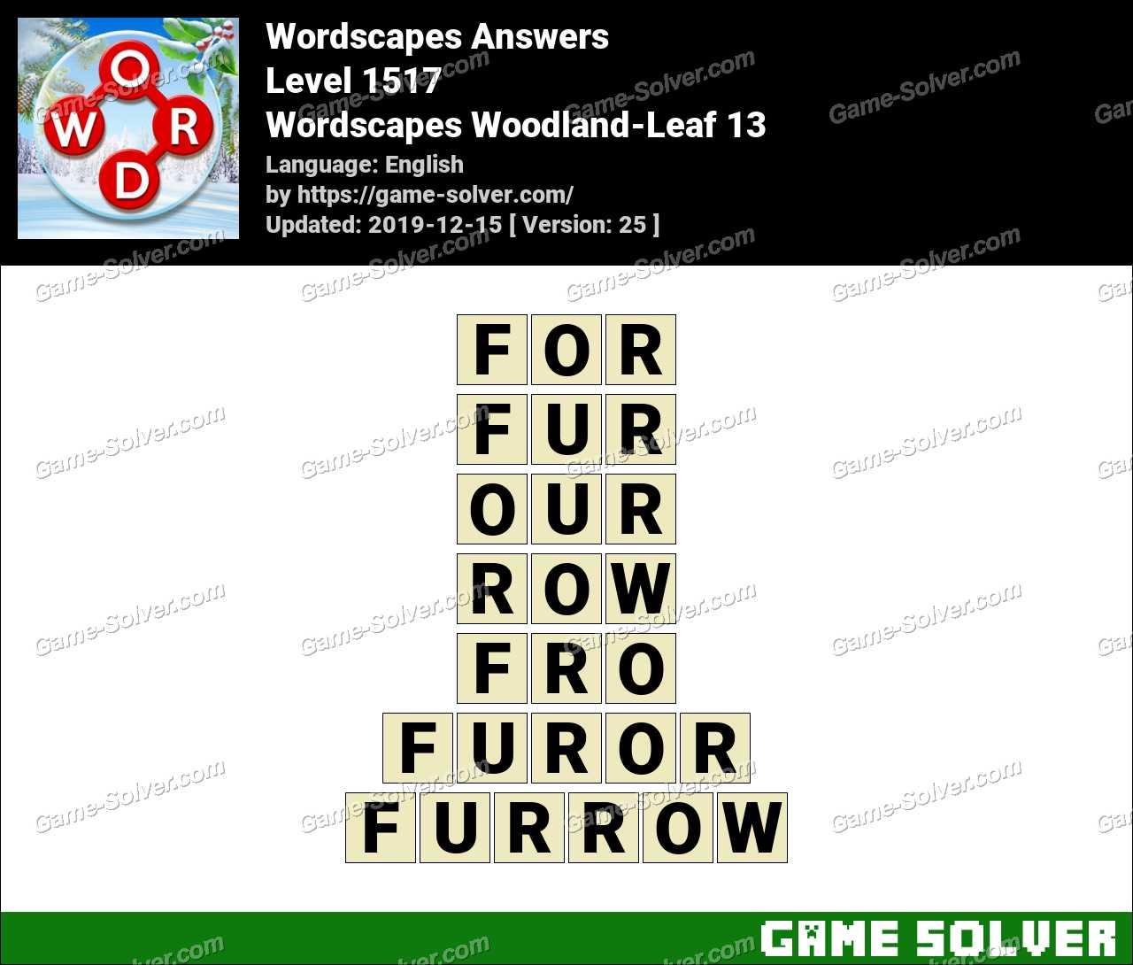 Wordscapes Woodland-Leaf 13 Answers