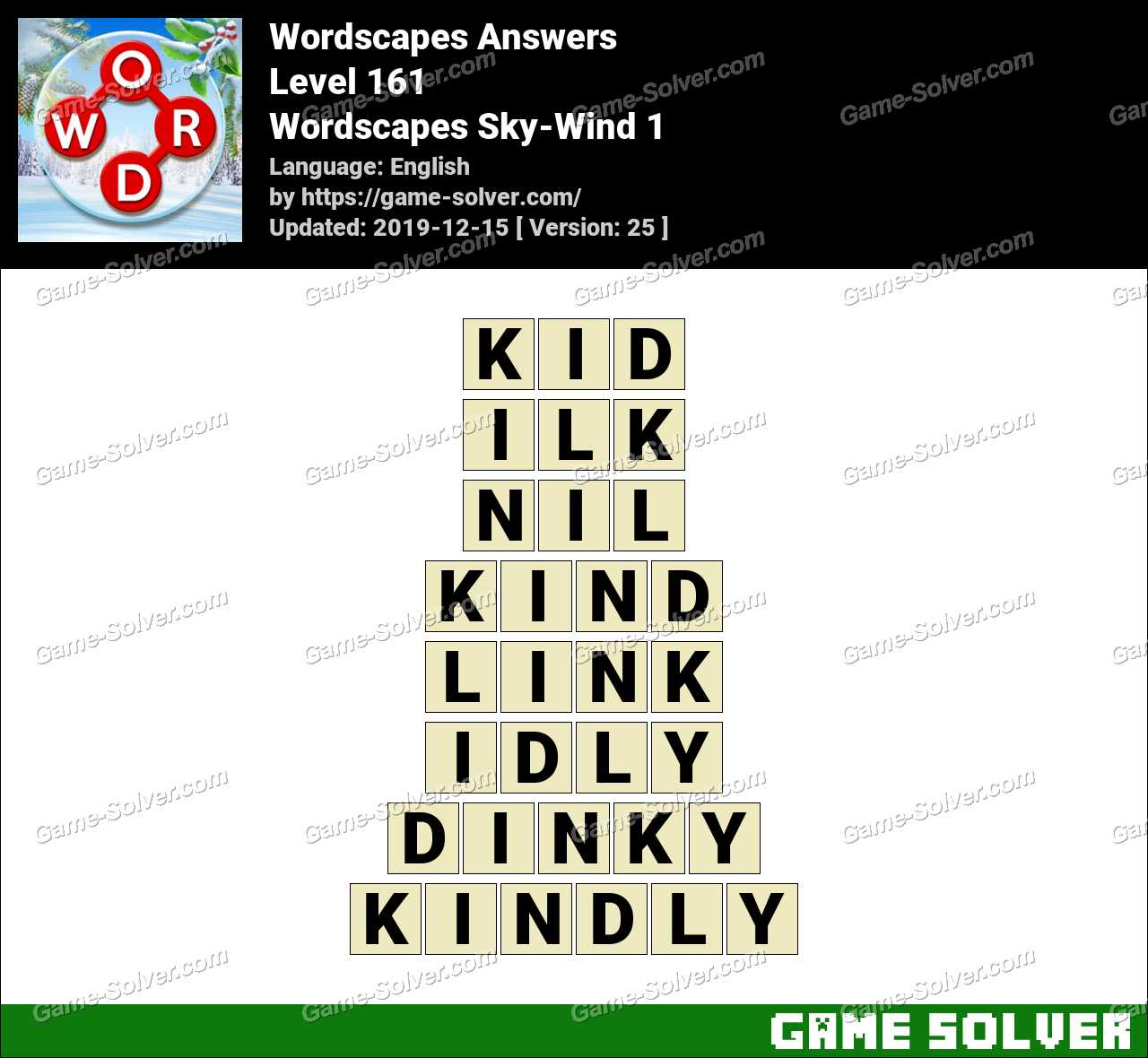 Wordscapes Sky-Wind 1 Answers