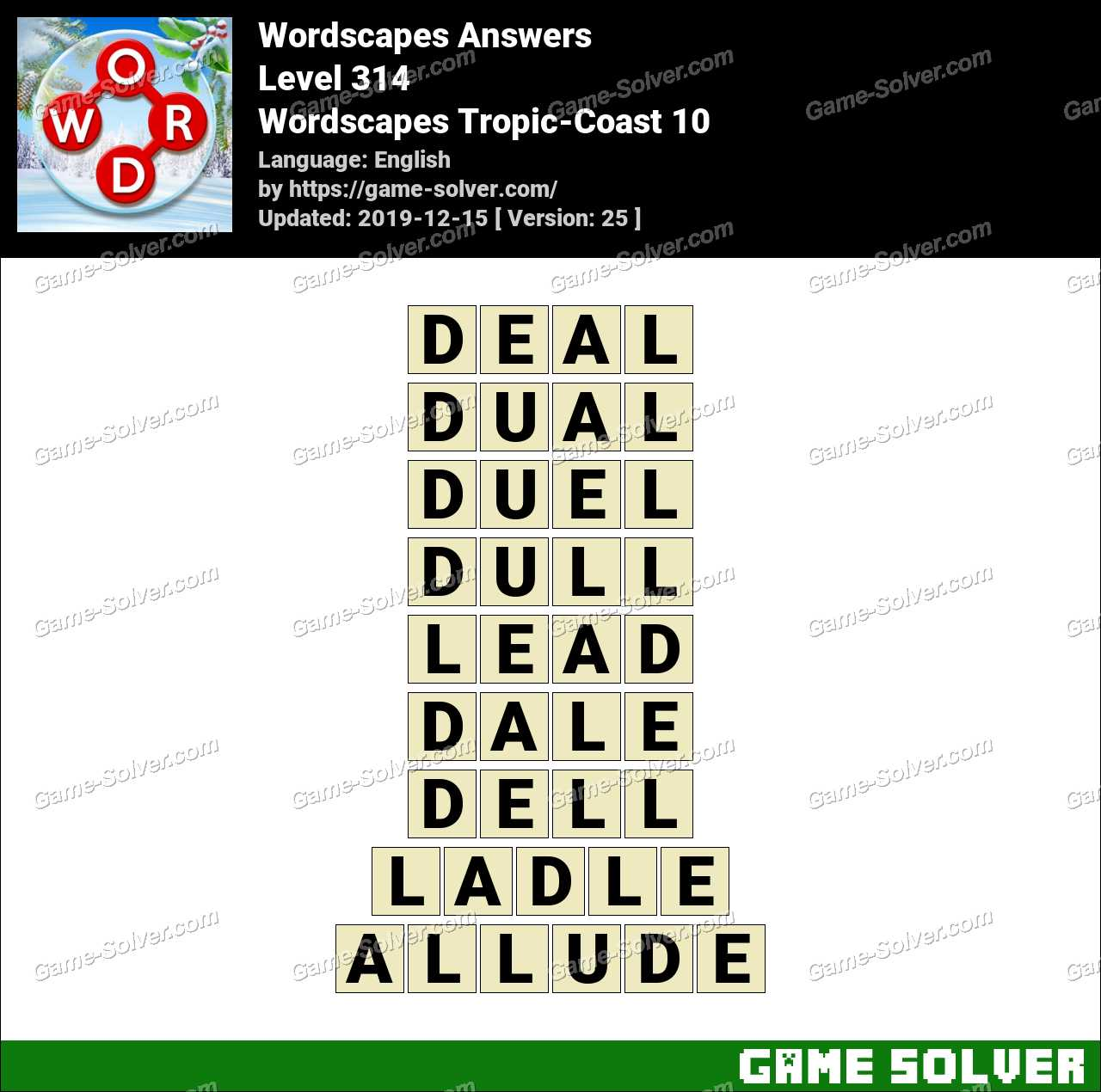 Wordscapes Tropic-Coast 10 Answers