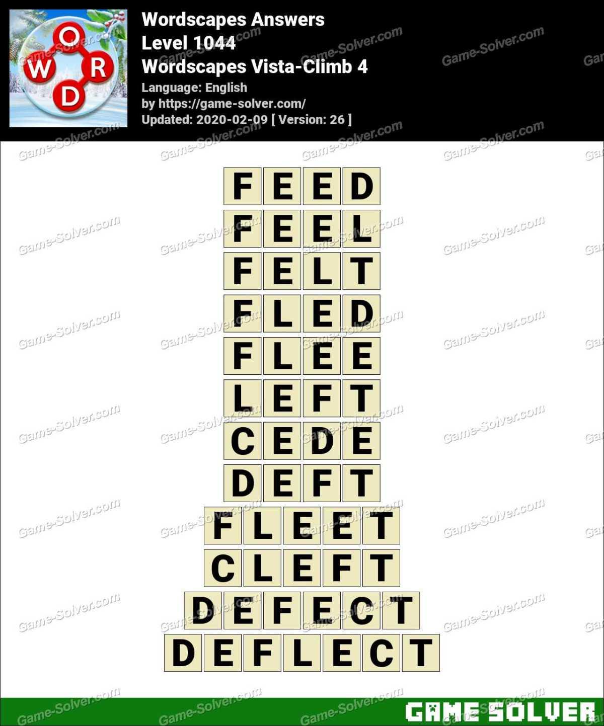 Wordscapes Vista-Climb 4 Answers