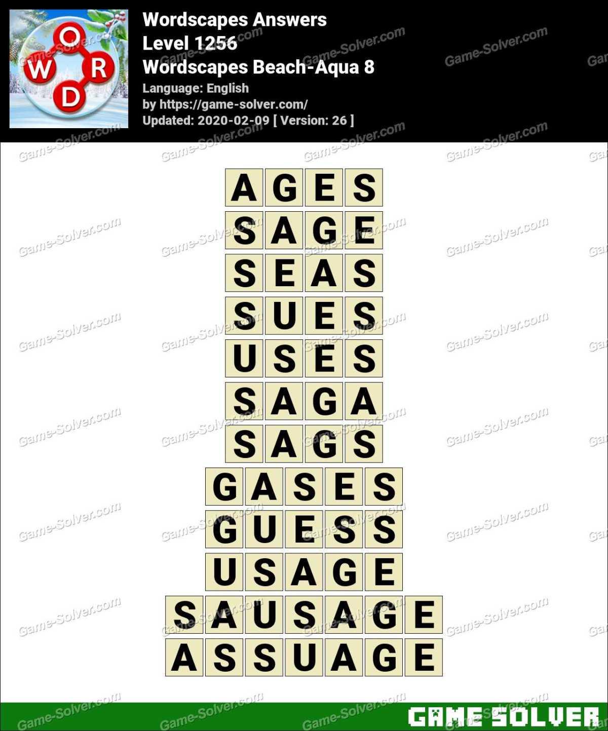 Wordscapes Beach-Aqua 8 Answers