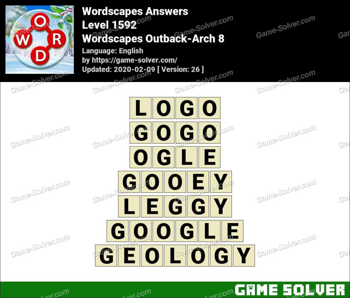 Wordscapes Outback-Arch 8 Answers