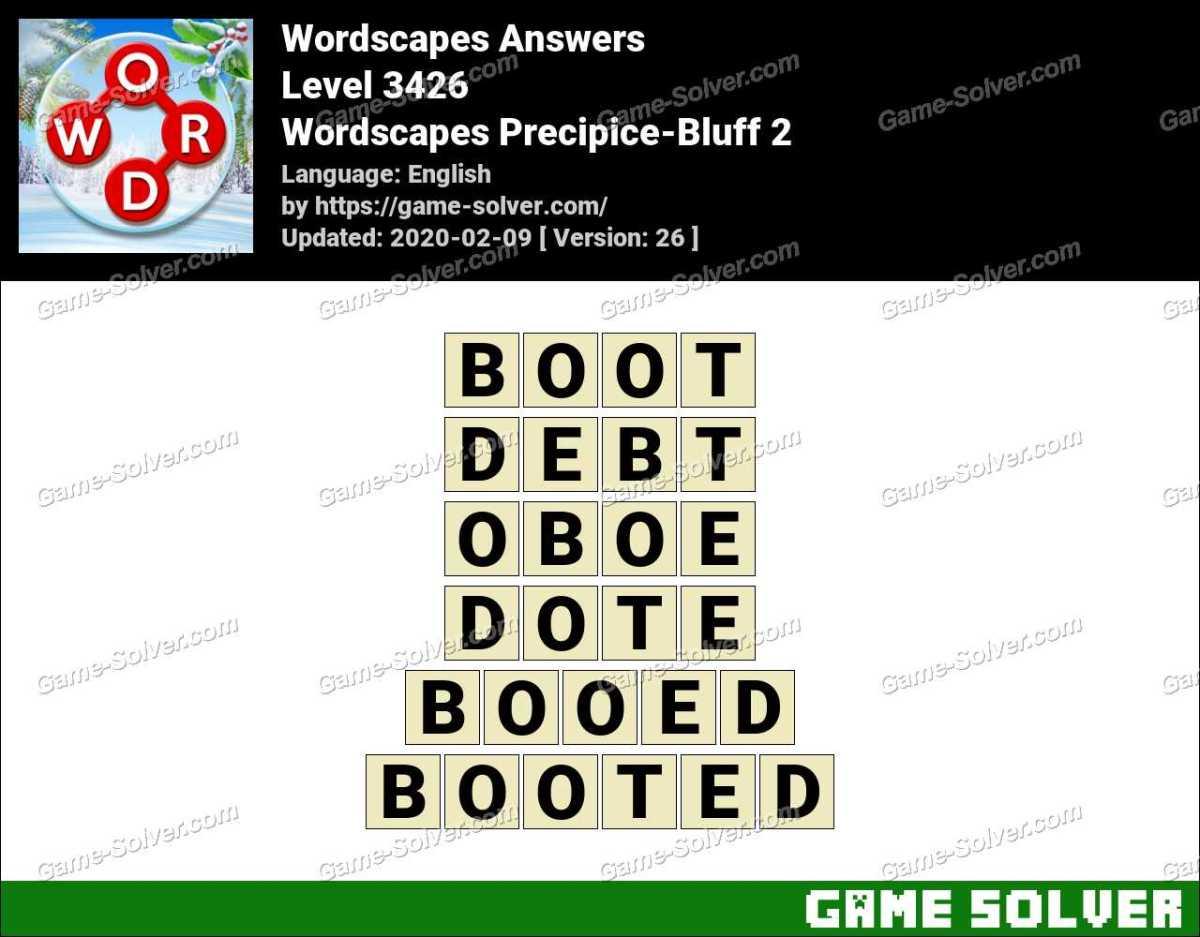 Wordscapes Precipice-Bluff 2 Answers