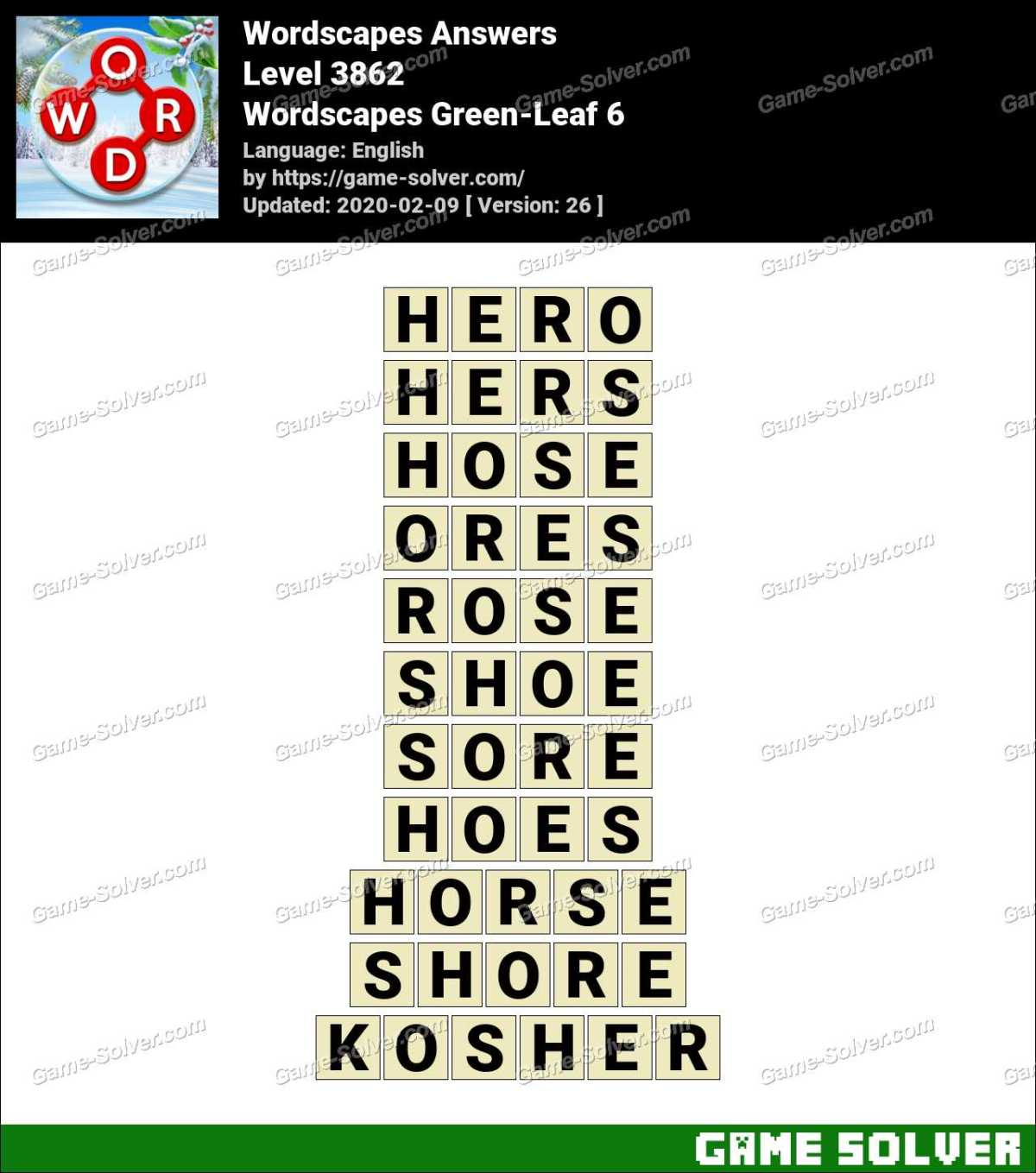 Wordscapes Green-Leaf 6 Answers