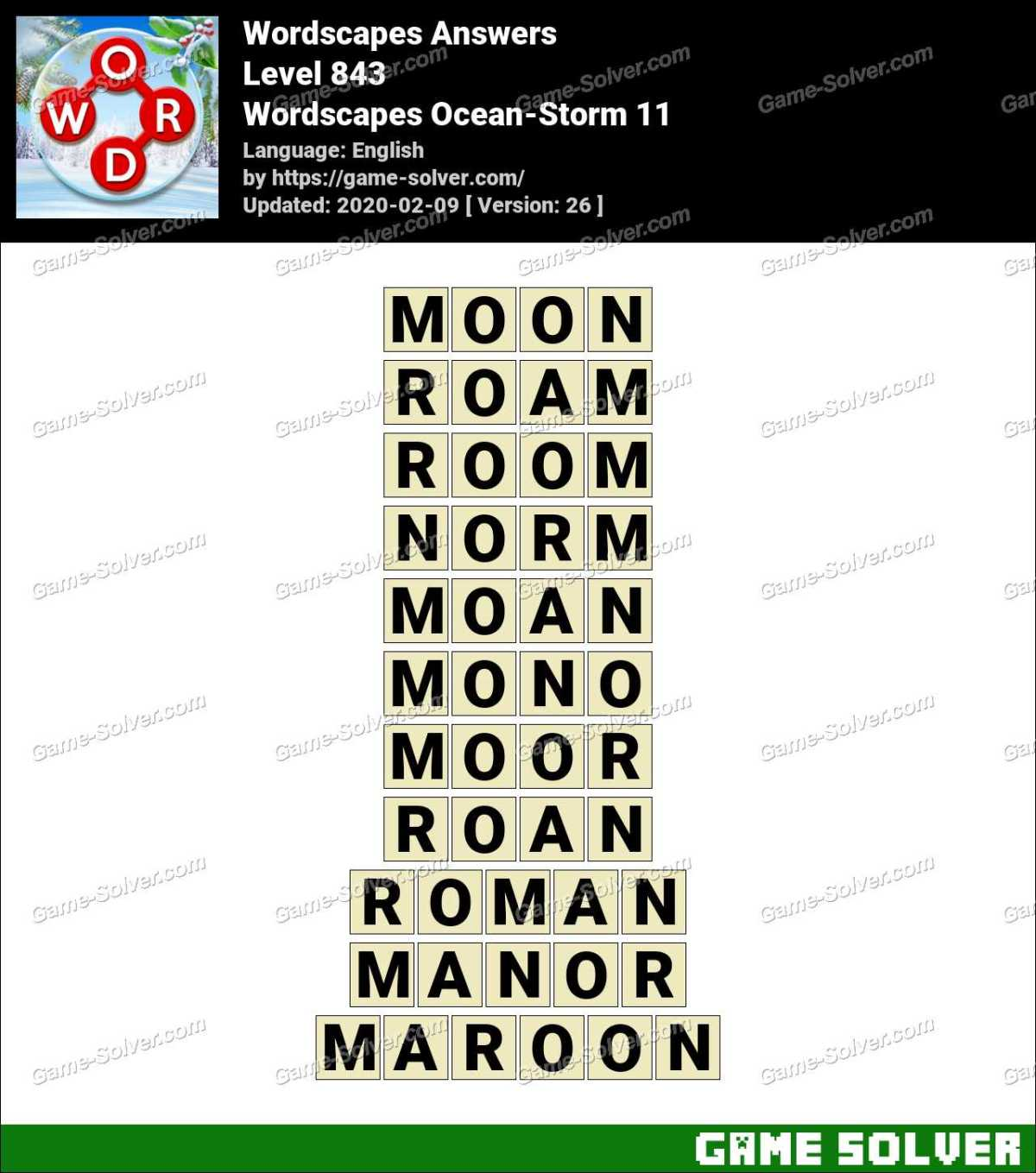 Wordscapes Ocean-Storm 11 Answers